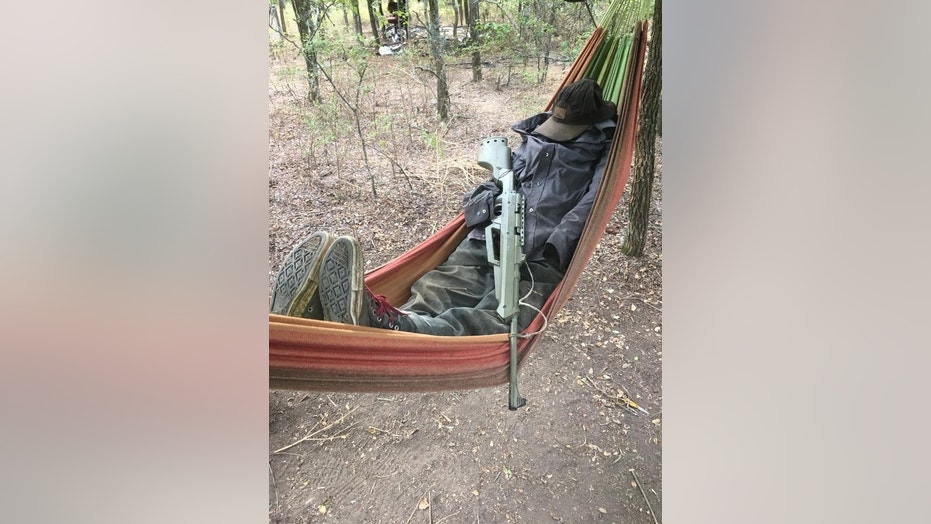 Police were reportedly undeterred by an armed scarecrow while searching an illegal marijuana field in Navarro County, Texas.