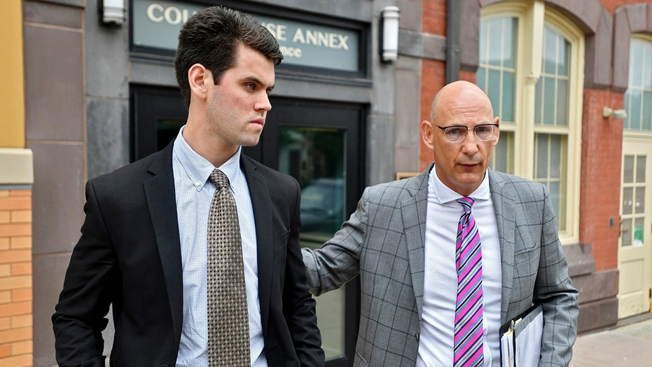 Ryan Burke, left, was sentenced in the case related to the death of 19-year-old fraternity pledge Timothy Piazza at Penn State University.