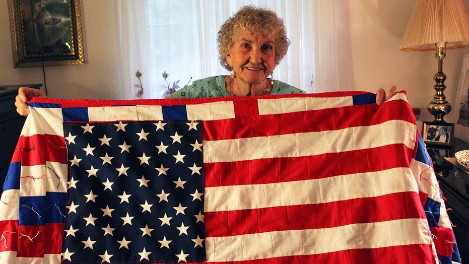 Betty Alexander, 85, recently finished a quilt with an American flag on it she wants to send to President Trump.