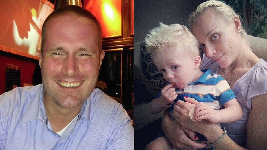 James Shields, left, shot and killed his ex-wife, Linda Olthof, right, his 6-year-old son James Jr., right, and current wife, Saskia Shields, before turning the gun on himself.