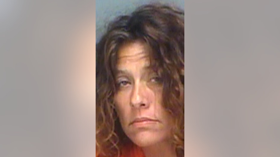 Danielle Delores Teeples told authorities she was running away from a giant spider.
