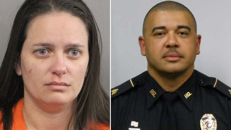 Shantel Parria Wagner, 35, was being held in connection with the death of her husband, Sgt. Troy Smith, 44, authorities said.
