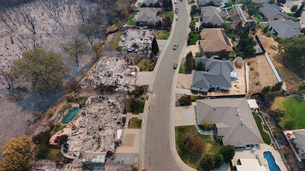 """Photos of the aftermath of """"Fire Tornado"""" in Redding California"""