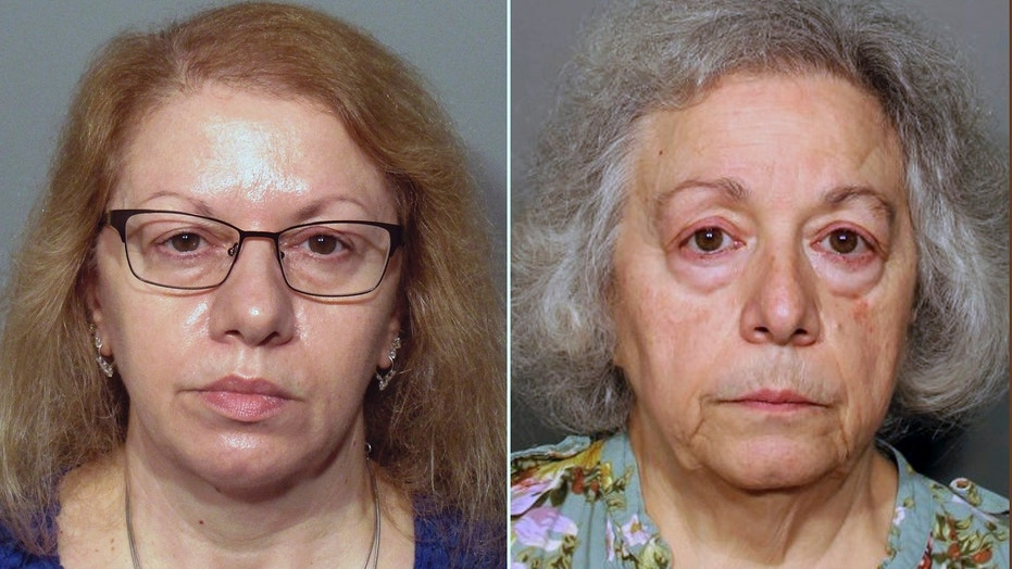 Joanne Pascarelli, left, and Marie Wilson are accused of stealing $478,588 from New Canaan's school district.