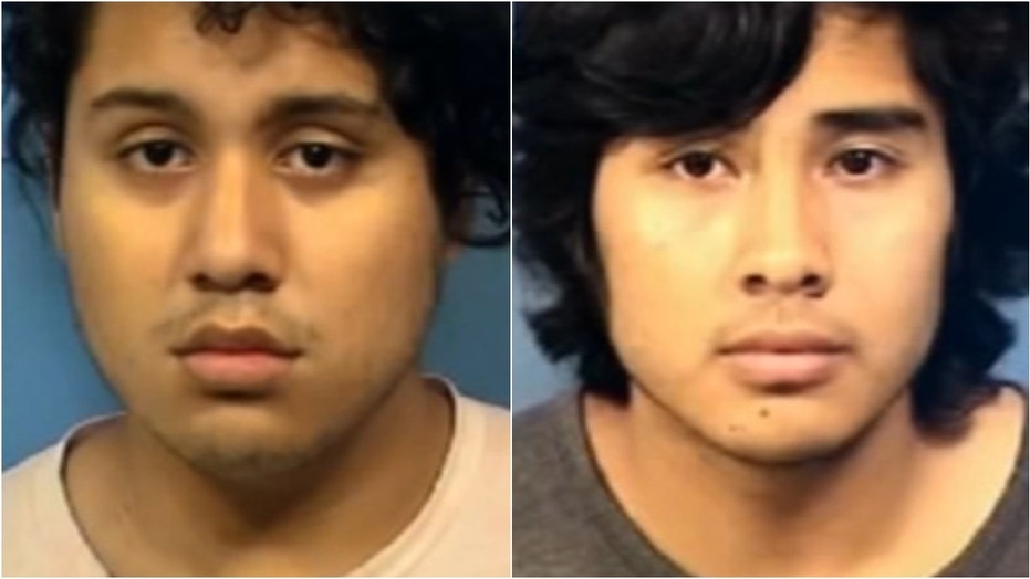 Jesus Correa, left, and Francisco Alvarado, both 18, face charges in connection with a man's death, authorities say. A 16-year-old girl also has been charged.
