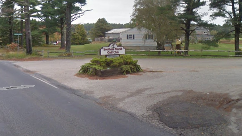 A man allegedly bit off a golfer's finger at Southers Marsh Golf Club on Friday.