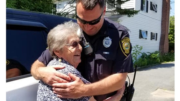 """""""Cops"""" superfan Simone P. Dumont got to celebrate her 93rd birthday with a playful """"arrest"""" by the Augusta Police Department."""