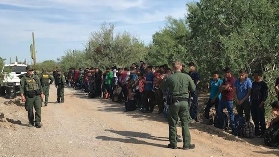 Border Patrol agents stopped on Friday a caravan of 128 people after it illegally entered the U.S. from Mexico to Arizona, U.S. Customs and Border Protection said Tuesday evening.