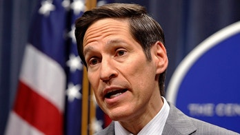 """Dr. Tom Frieden, director of the Centers for Disease Control (CDC), speaks at the CDC headquarters in Atlanta, Georgia September 30, 2014. President Barack Obama on Tuesday discussed """"stringent isolation protocols"""" with Frieden to limit the risk of more Ebola cases after a diagnosis was made in Dallas, the White House said.    REUTERS/Tami Chappell  (UNITED STATES - Tags: POLITICS HEALTH) - GM1EAA10JNT01"""