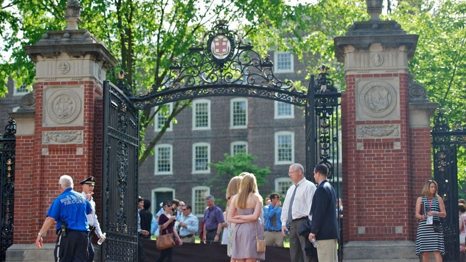 Van Wickle Gates of Brown University in Providence, R.I., are seen in May 2012