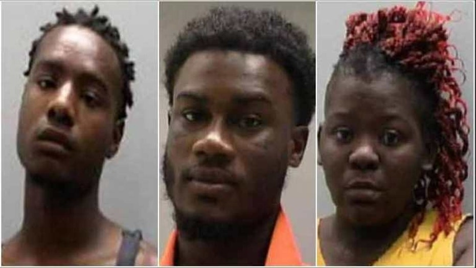 Mitchell Brinson, Keith Earl Williams and Dakeithia Nesha Andrews were arrested in connection with the deaths of Leggett Mayor Gary Skelton and his wife Jackie Skelton.