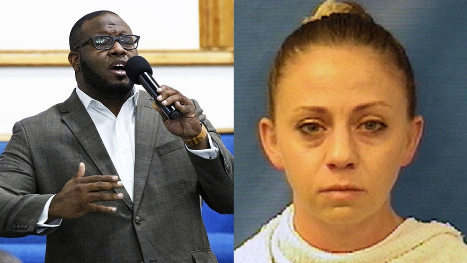 Dallas Police Officer Amber Guyger, right, is accused of manslaughter in the death of Botham Jean.