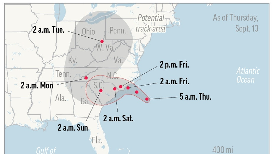Hurricane Florence Timeline: What to Expect From the Storm Through the Weekend