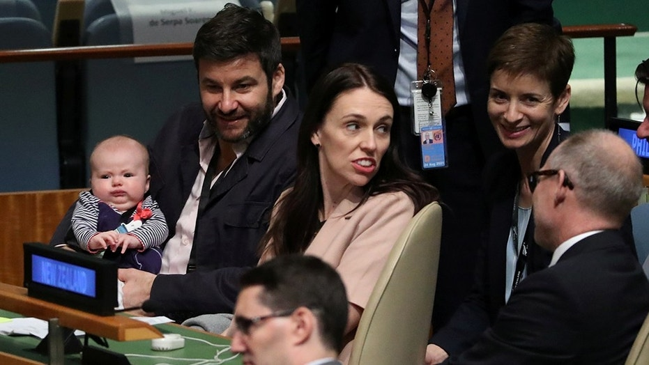 New Zealand PM's three-month-old 'First Baby' makes United Nations debut