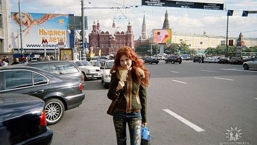 "This undated image taken from the Russian social networking website ""Odnoklassniki"", or Classmates, shows a woman journalists have identified as Anna Chapman, who appeared at a hearing Monday, June 28, 2010 in New York federal court. Chapman, along with 10 others, was arrested on charges of conspiracy to act as an agent of a foreign government without notifying the U.S. attorney general. The caption on Odnoklassniki reads ""Russia, Moscow. My favorite place on earth, my native capital!""  (AP Photo)"