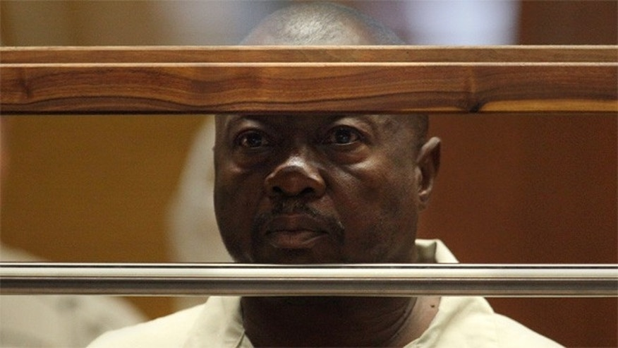 "Lonnie David Franklin Jr. appears for arraignment on multiple charges as the alleged ""Grim Sleeper"" killer, in Los Angeles Superior Court Thursday, July 8, 2010.  (AP Photo/Al Seib, Pool)"