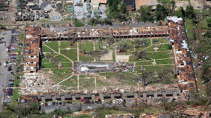 Some of the worst damage was in Tuscaloosa, a city of more than 83,000 that is home to the University of Alabama. Neighborhoods there were leveled by a massive tornado that barreled through late Wednesday afternoon and was caught on video by a tower-mounted news camera.