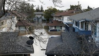 A neighborhood is seen partially submerged after heavy rains overflowed nearby Coyote Creek in San Jose, California, U.S., February 21, 2017. REUTERS/Stephen Lam - RTSZPZY