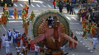 The Tom Turkey float makes its way down 6th Ave during the 91st Macy's Thanksgiving Day Parade in the Manhattan borough of New York City, New York, U.S., November 23, 2017.  REUTERS/Carlo Allegri - RC15F052F6E0