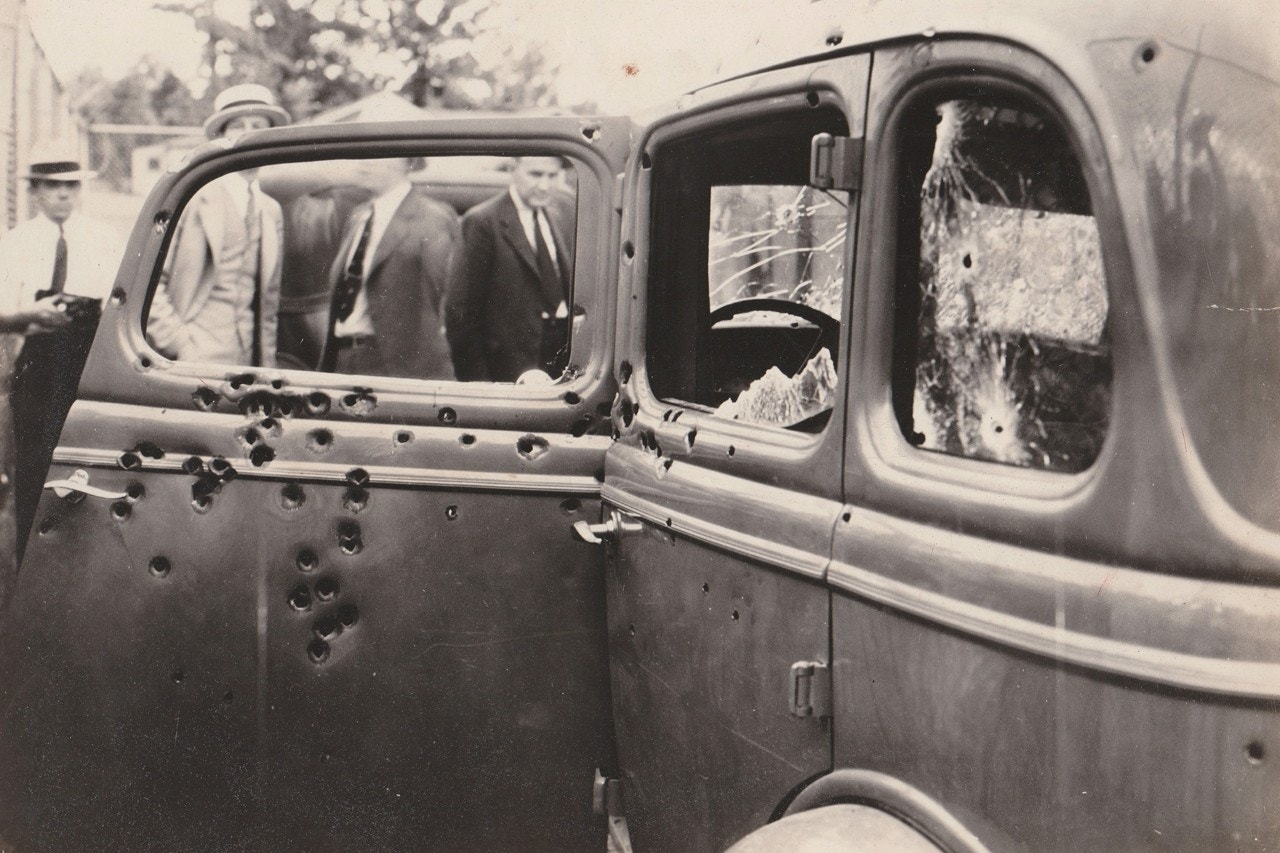 107 rounds of bullets were reported to have been fired at Bonnie and Clyde