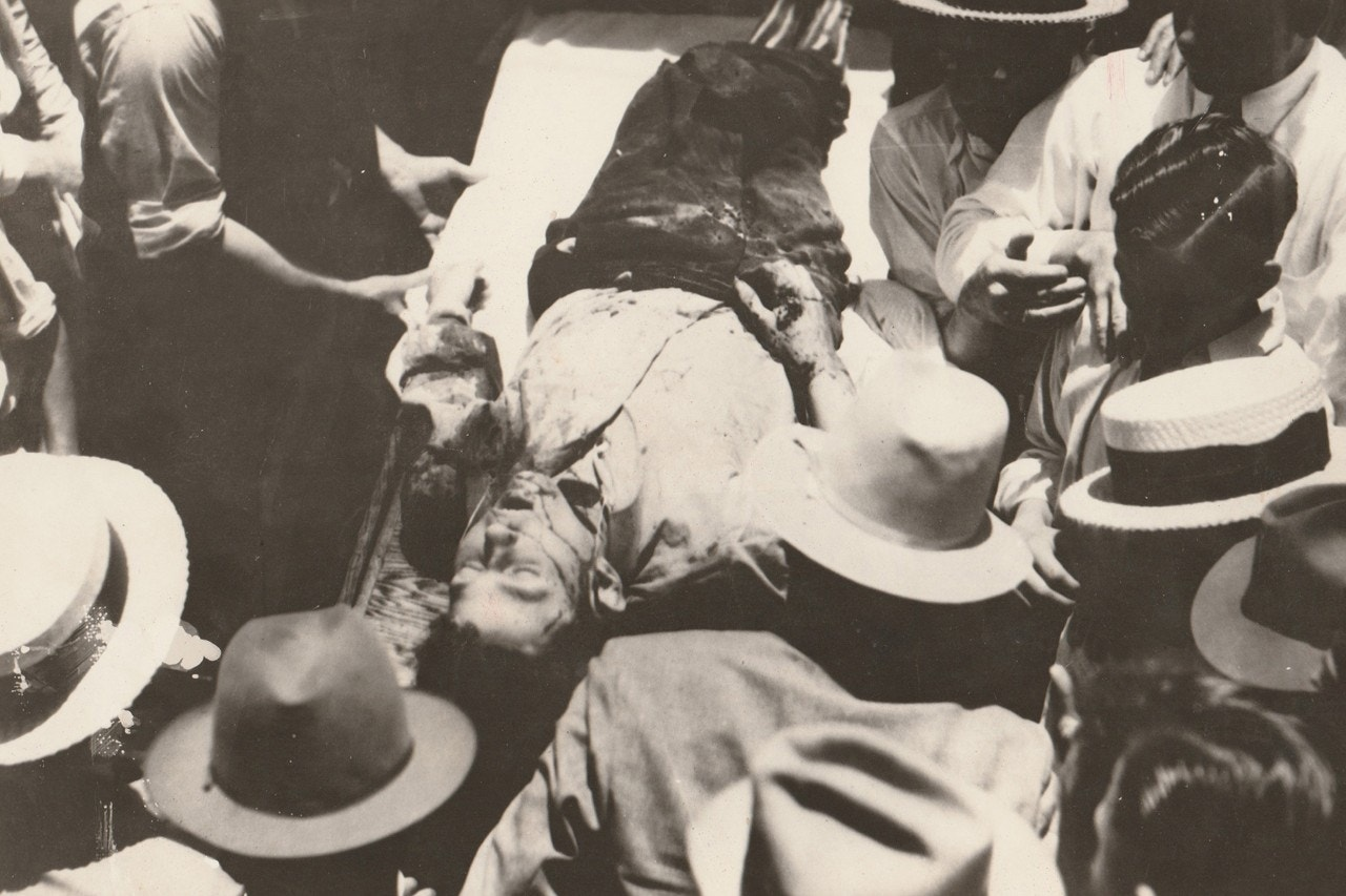 Clyde Barrow after being killed
