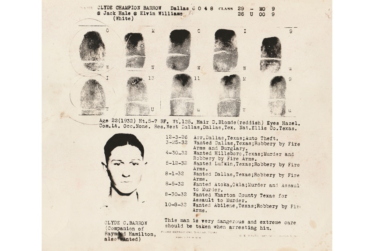 Clyde Barrow's fingerprints