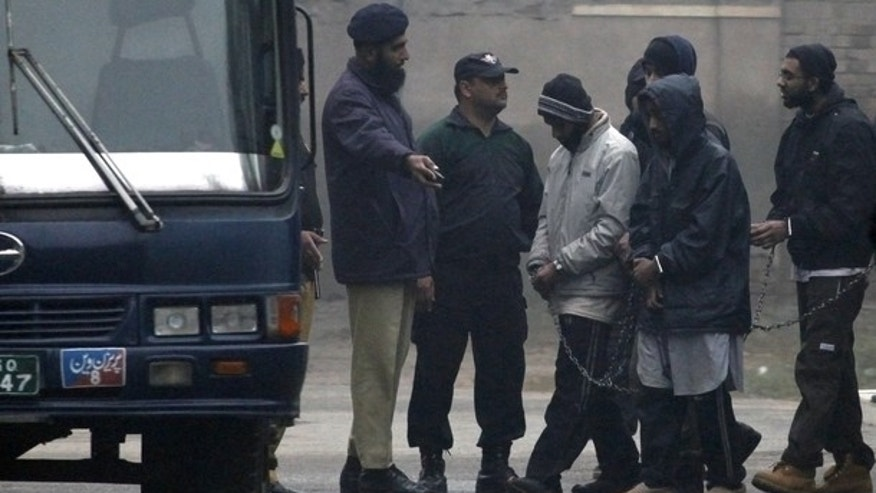 Jan. 18: Pakistani police escort five Americans held on terror charges in Punjab province, Pakistan.