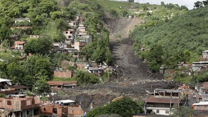 April 8: The Morro do Bumba area is seen after a landslide buried homes in the Niteroi neighborhood of Rio de Janeiro.