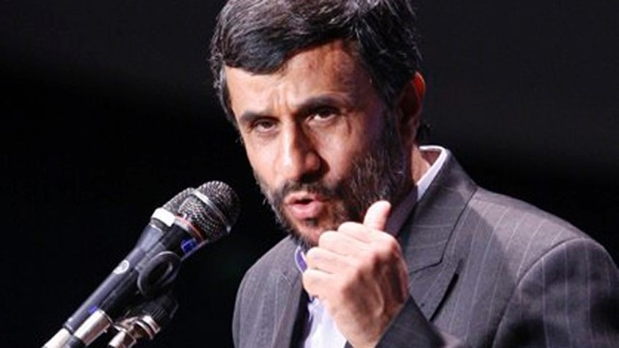Iranian President Mahmoud Ahmadinejad makes a speech during a ceremony marking Iran's National Day of Nuclear Technology in Tehran, Iran, Friday, April 9, 2010.  Iran unveiled a third generation of domestically built centrifuges Friday as the country pushes ahead with plans to accelerate a uranium enrichment program that has alarmed many world powers. (AP Photo/Vahid Salemi)