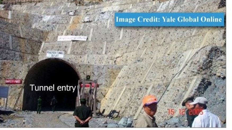 Ground photograph obtained by Bertil Lintner at YaleGlobal Online. ISIS assessed that this photograph depicts a dam penstock.