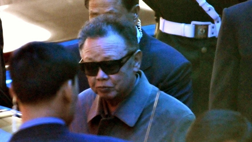 May 3: North Korean leader Kim Jong Il leaves a hotel in Dalian, northeastern China.