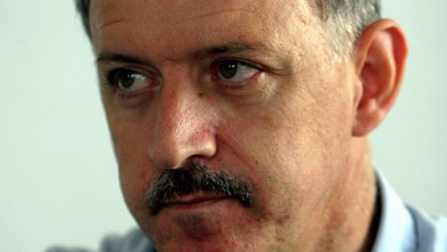 May 9, 2006: Israeli Arab Amir Makhoul, one of two members of Israel's Arab minority that have been arrested on suspicions they spied for the Lebanese militia Hezbollah. (AP)