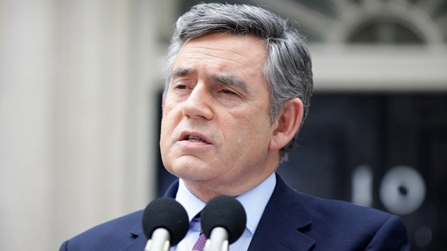 British Prime Minister Gordon Brown, seen here in a May 10 photo, says it 'was a privilege to serve' the U.K.