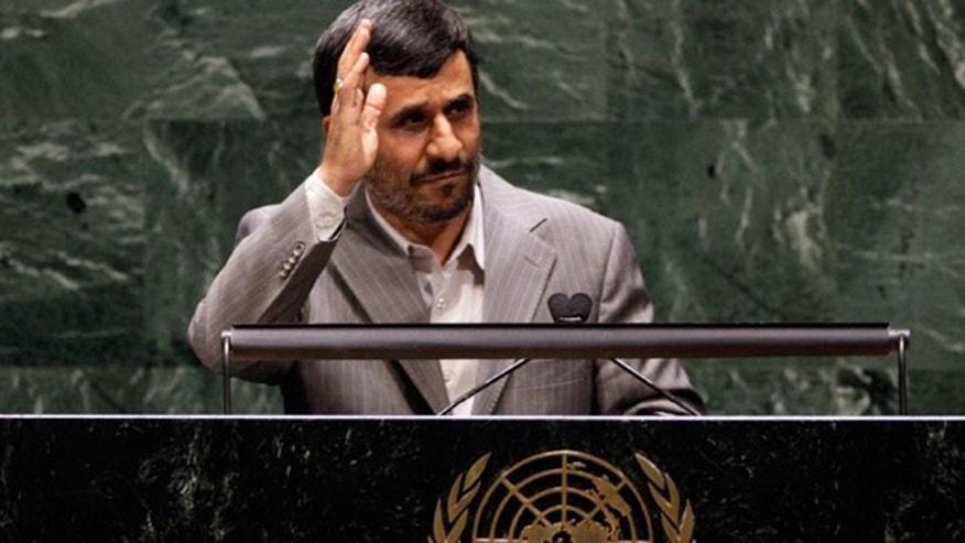 FILE: Iranian President Mahmoud Ahmadinejad waves after his address to the Nuclear Nonproliferation Treaty conference at United Nations headquarters in New York. Diplomats say Iran has set up new equipment that will allow it to boost its efficiency at enriching uranium at higher levels.