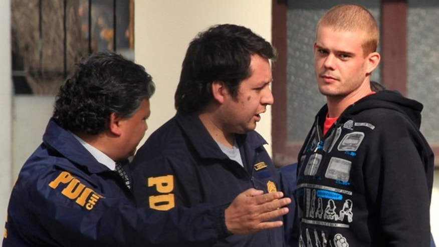 June 3: Chile's investigative police detain Joran van der Sloot after he was found in Santiago.