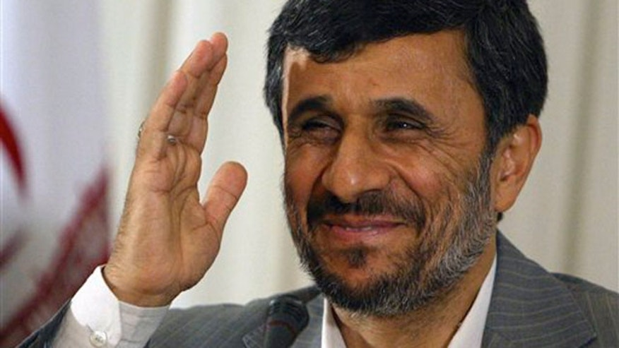 FILE: June 8, 2010: Iranian President Mahmoud Ahmadinejad during a news conference in Istanbul, Turkey, where he said a nuclear swap deal brokered by Turkey and Brazil is a one-time opportunity that should not be missed.