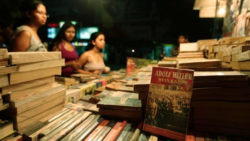 June 23: Adolf Hitler's Mein Kampf is displayed at a roadside book shop in New Delhi, India.