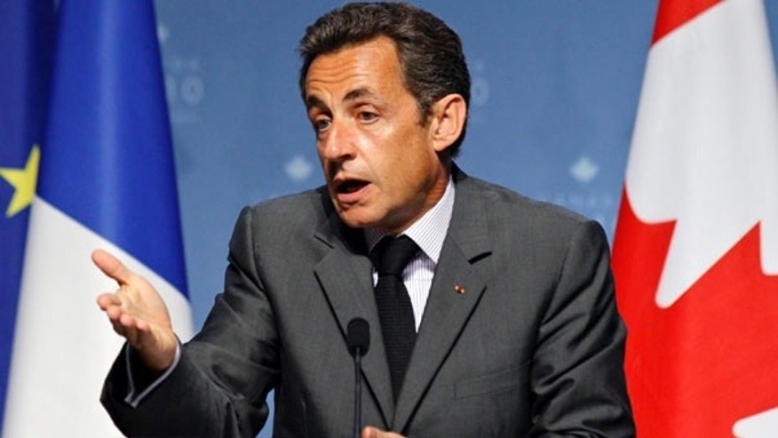 June 27: French President Nicolas Sarkozy speaks during his final press conference at the conclusion of the G20 Summit in Toronto.