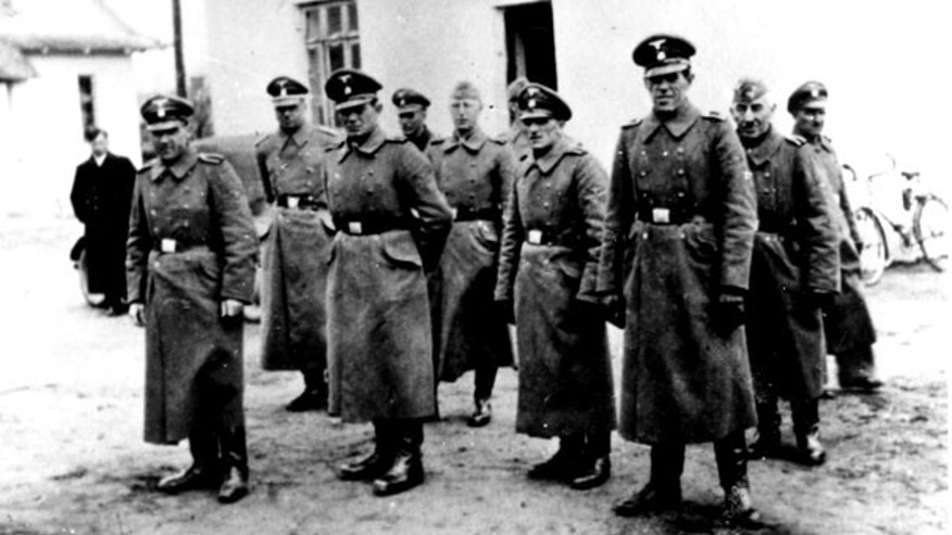 FILE: Nazi guards are seen at the Belzec death camp in Poland in 1942. Samuel Kunz, 90, a suspected former Nazi guard at Belzec, has been charged with participating in the murder of 430,000 Jews and other crimes during the Third Reich.