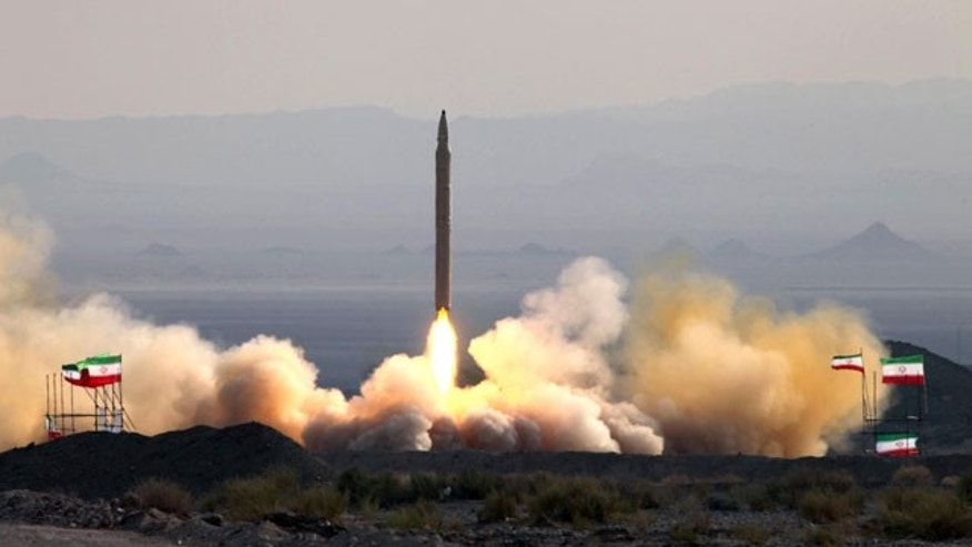 This photo released on Friday, Aug. 20, 2010, by the Iranian Defense Ministry, claims to show the launch of the Qiam-1 liquid-fueled missile by Iranian armed forces, at an undisclosed location. Iran's defense minister says military forces have successfully test-fired a missile with enhanced guidance systems to hit ground targets.