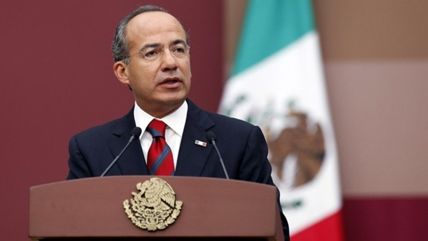 "Sept. 2: Mexico's President Felipe Calderon delivers his latest ""state of the nation"" report to Congress in Mexico City."