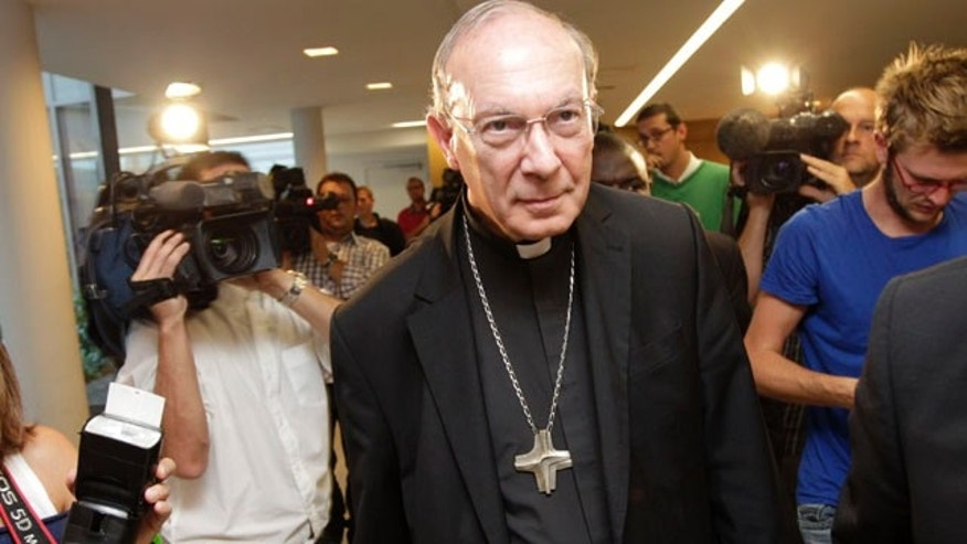 Sept. 13, 2010: Belgium's Archbishop Andre-Joseph Leonard after a press conference in Brussels.