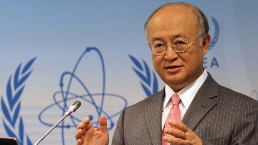 Sept. 13, 2010: Director General of the International Atomic Energy Agency, IAEA, Yukiya Amano from Japan speaks during a news conference after IAEA's board of governors meeting at Vienna's International Center, in Vienna, Austria.