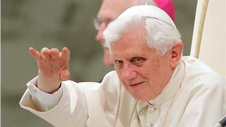Sept. 15, 2010: Pope Benedict XVI acknowledges faithful during his weekly general audience at the Paul VI Hall, at the Vatican. The pontiff leaves Thursday for Britain in a trip to revive Christianity in an increasingly secular Europe. (AP)