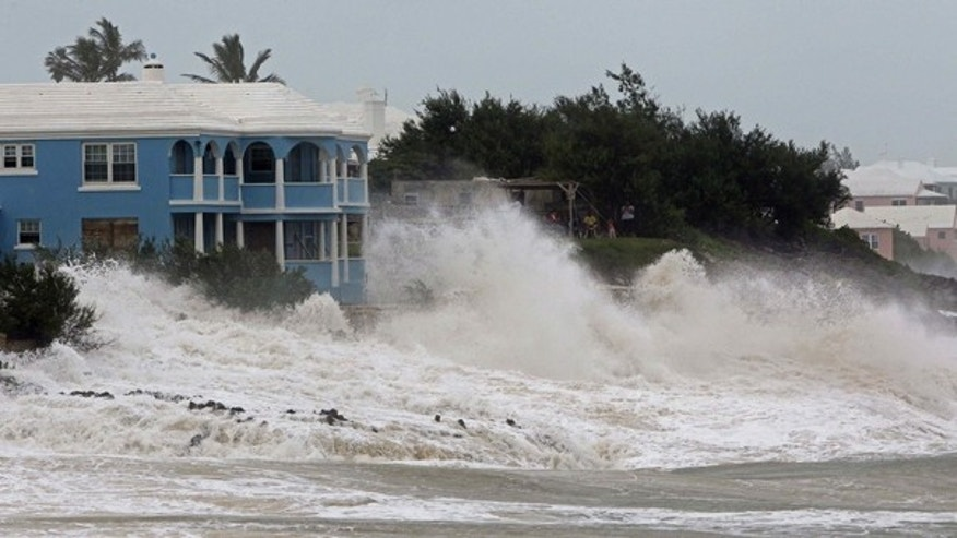 Sept. 18: Waves crash onto the beach at John Smith's Bay in Smith's Parish as Hurricane Igor approaches in Bermuda.