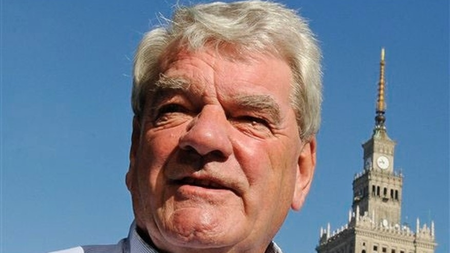 Controversial British historian David Irving speaks to the AP in Warsaw, Poland, Thursday, Sept. 23, 2010. Irving came to Poland leading a group of followers on a visit to WWII sites, including former Nazi death camps. National Remembrance Institute's spokesman Andrzej Arseniuk said prosecutors are watching his public statements for any violations of the law that forbids the denial of the Holocaust. Violations are prosecuted and can lead to prison terms of up to three years.  Irving was convicted under a similar law in Austria in 2006 and served 13 months in prison.
