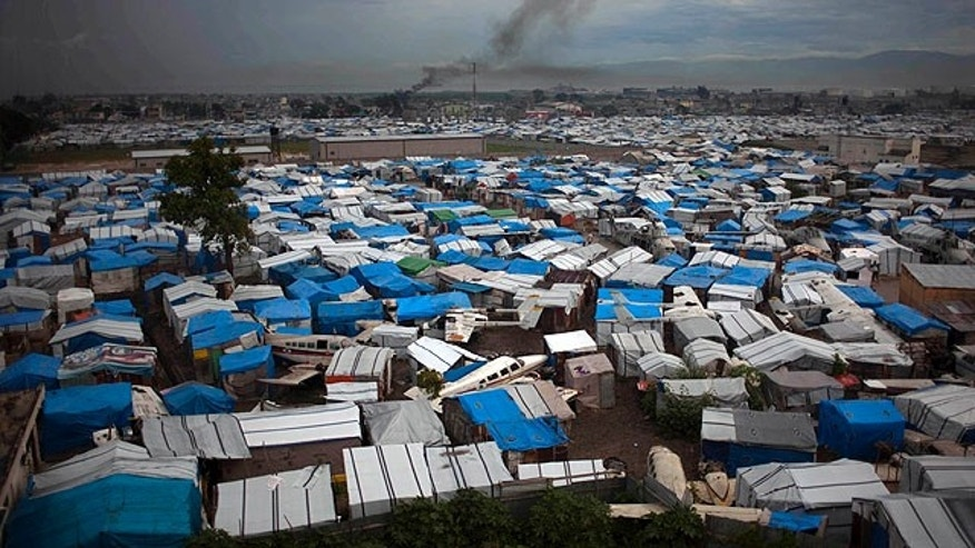 Sept. 29, 2010: A camp set up for Jan. 12 earthquake victims is seen in what used to be an air strip in Port-au-Prince, Haiti (AP).