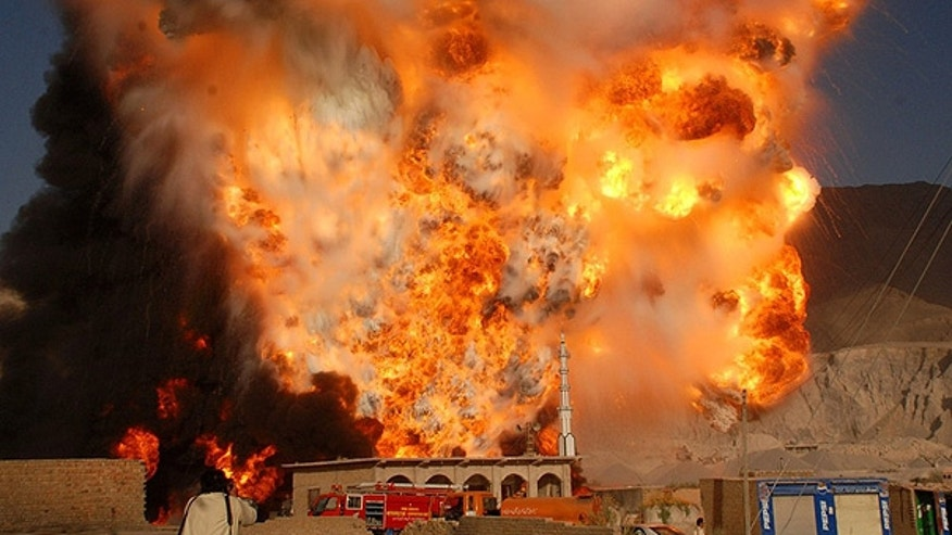 Oct. 6: Tankers carrying oil for NATO forces in Afghanistan burn following an attack by gunmen in Quetta, Pakistan.
