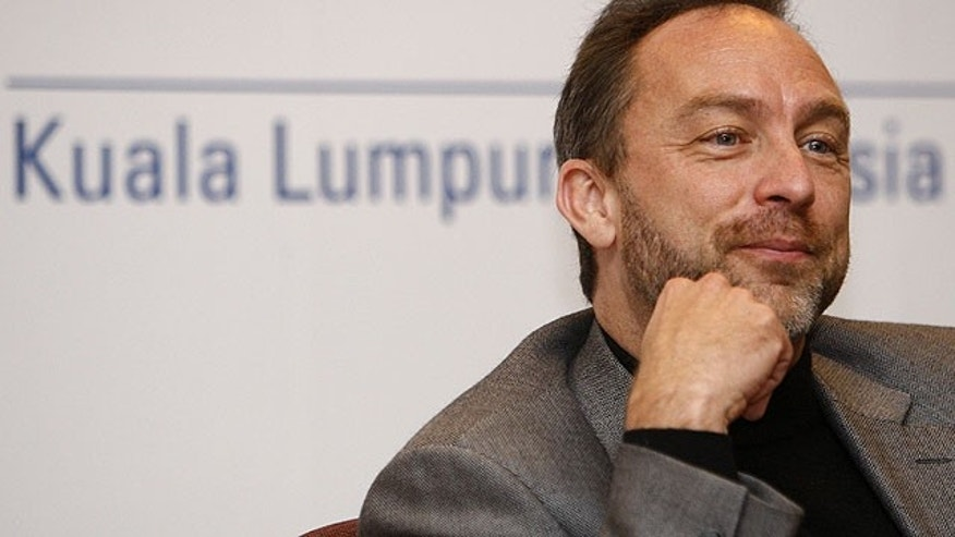 Sept. 28, 2010: Co-founder and promoter of Wikipedia Jimmy Wales listens during a press conference at the World Capital Markets Symposium in Kuala Lumpur, Malaysia.