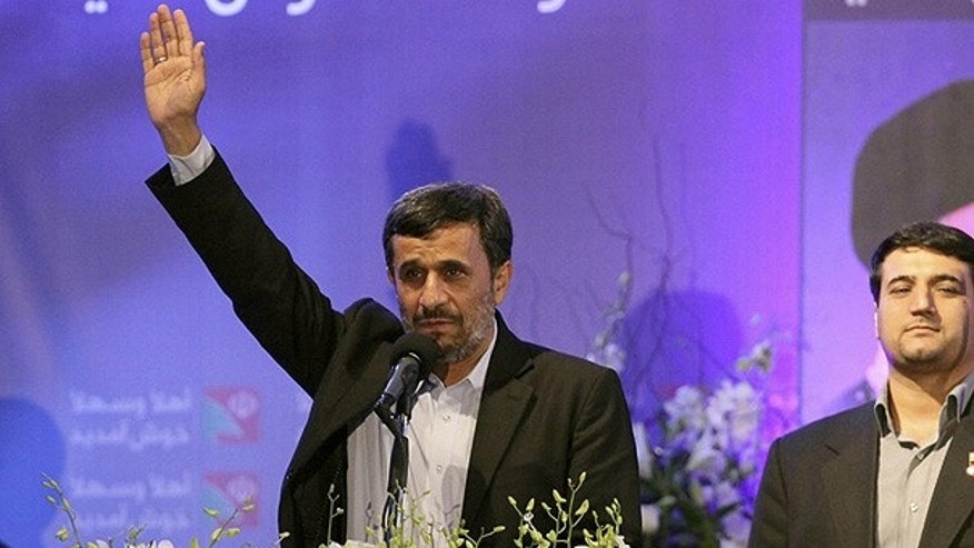 Oct. 13: Iranian President Mahmoud Ahmadinejad addresses Lebanon's Hezbollah supporters in southern Beirut.